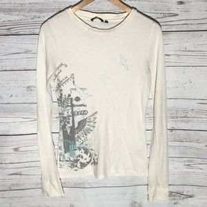 White Hurley thermal top